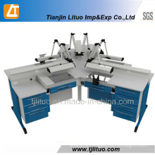 Blue Color Style Four-Workstations Lab Bench