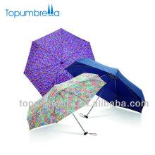 Quadratischer Regen-Regenschirm, der sublimierten Druckschirm faltet