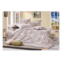 100% хлопок 40s 128 * 68 цветочный пигмент печать высокое качество роскошный комплект постельного белья