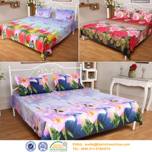 cotton bed sheet custom printed fabric