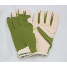 Light Weighting. PU Leather Palm Gardening Glove