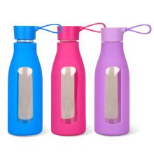 Single Wall Cycling 600ml BPA Free Eco-friendly Bouteille en verre de haute qualité