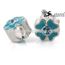 Perles en émail en métal 2014 Nouvelle conception pour bijoux pour femmes en perles faites à la main Design en métal chaud