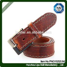 2016High Quality Strap Wide Cow Hide Mens Real Leather For Jeans Belt/cintos de couro cinto de couro para homens