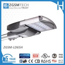 Luz listada UL do diodo emissor de luz da rua 65W para a iluminação da maneira de estrada