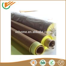 Taixing поставщик цена со скидкой завод Самоклеящиеся высокотемпературные PTFE стекловолокна ленты 0,08-0,35 мм