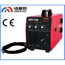 MIG-150 máquina de soldadura portátil con alta frecuencia y precio económico