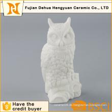 Home Dekoration Weiß Keramik Eule Handwerk