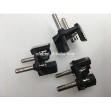 16 a two-pin french type female coupling socket inserts (3 conductor grounding plug,2 round pin vde plug)
