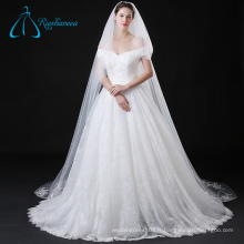 Appliques en dentelle Tulle Pearls Long Cathedral Wedding Veil