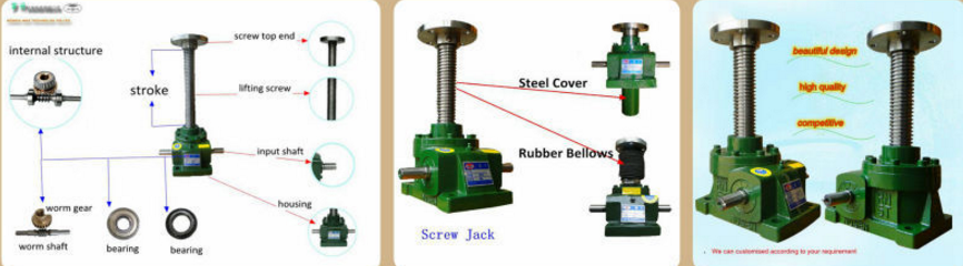 Factory Supply OEM 10 Tons Custom Stroke Screw Jack for Retailer