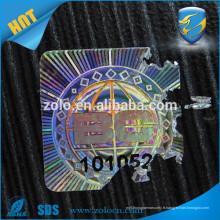 Matériaux de papier fragiles holographiques à haute sécurité et étiquettes de vin