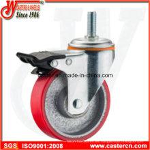 Ruedas de acero de 5 pulgadas de tirante giratorio de servicio medio con doble freno