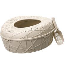WC plástico del gato, caja barata de la arena para gatos