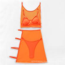 Custom Logo Hot Girl Sexy Women Beach Bikini Swimwear Set