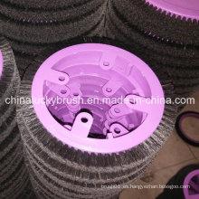 Cepillo redondo de cerda negra pura para la máquina de la materia textil de Krantz (YY-421)