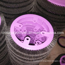 Escova redonda de cerda preta pura para máquina de têxteis de krantz (yy-421)
