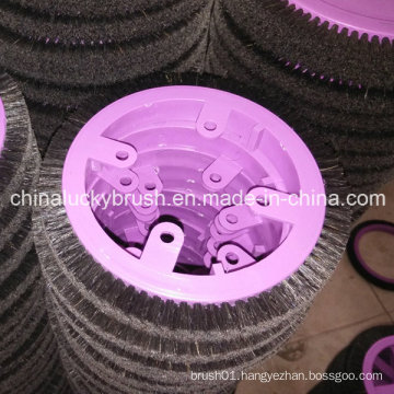 Pure Black Bristle Round Brush for Krantz Textile Machine (YY-421)