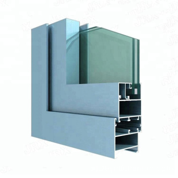 Silver anodized extruded aluminum profiles for window