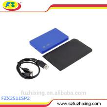 Пластиковый футляр для жесткого диска USB 2.0, жесткий футляр для корпуса, футляр для жесткого диска