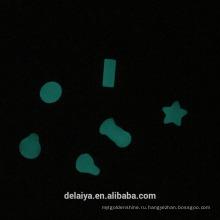 Пользовательские формы светятся в темноте эпоксидная смола купол наклейка
