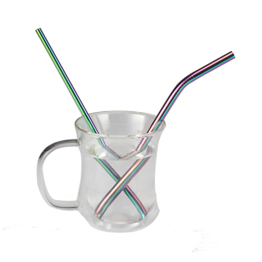 Hot Sell Rainbow Reusable Drinking Straws