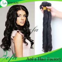 7А класс 100%необработанные человеческих волос Девы Реми волос уток