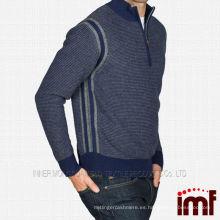 Venta al por mayor Mens Mock Neck Cashmere Sweater