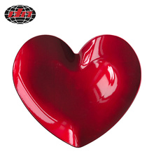 Red Romantic Heart-Shaped Plastic Charger Plate