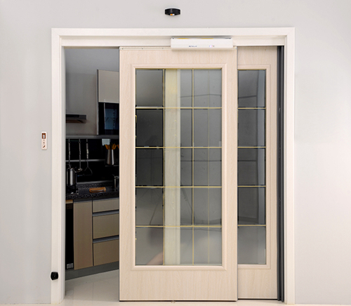 Interior Automatic Sliding Door with Double Motive Leafs