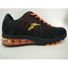 Schwarz / Orange Herren PU Sneaker