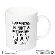 White Color with Words Printing Straight Coffee Mug