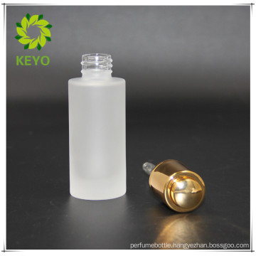30ml frosted bottle with gold press pump