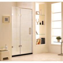 Écran de douche en verre à charnière simple à neuf (K11)