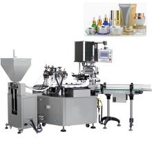 Máquina automática de rotulagem e tampa de enchimento de garrafas