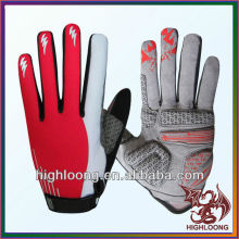 Female Spandex Polyester Anti-Skid Road Cycling Gloves with Silicon Print