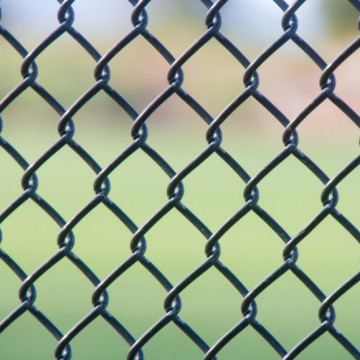 Football Field pvc coated chain link fence