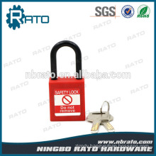 Light Waterproof Security Red Plastic Shackle Padlock