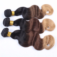 China supplier wholesale price alibaba express cheap peruvian human hair Ombre color three tone weave virgin peruvian hair