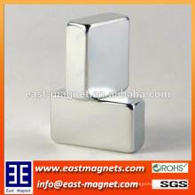 Ncustom N35 ~ N52 ímã permanente da forma do bloco da classe / Neodymium sinterizado do bloco para a venda