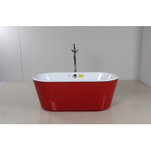 Red Mini Acrylic Freestanding Bathtub