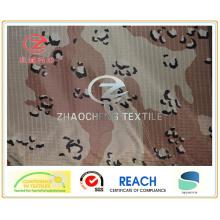 350t Ribstop Poly Pongee Desert Camouflage Printing (ZCBP113)