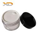 Eco-friendly single layer transparent PETG cream jar in stock