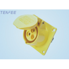 16a IP44 Panel Mounted Straight Socket 2P+E industrial socket