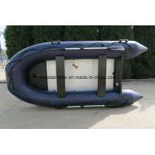 Material del casco del PVC Bote inflable del piso de aluminio de alta velocidad