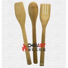 Natureza bambu utensílios de cozinha conjunto (CB02)