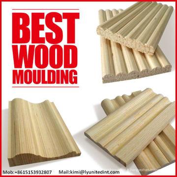 Moulures en bois décoratives Moulures en bois massif Moulures en bois estampées
