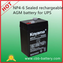 Np4-6 Sealed Rechargeable AGM Battery (6V4Ah) for UPS
