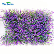 edge artificial green grass wall panel for shopping mall decoration