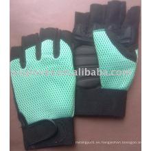Guante de medio dedo guante de cuero sintético Guante de trabajo guante de seguridad guante de trabajo